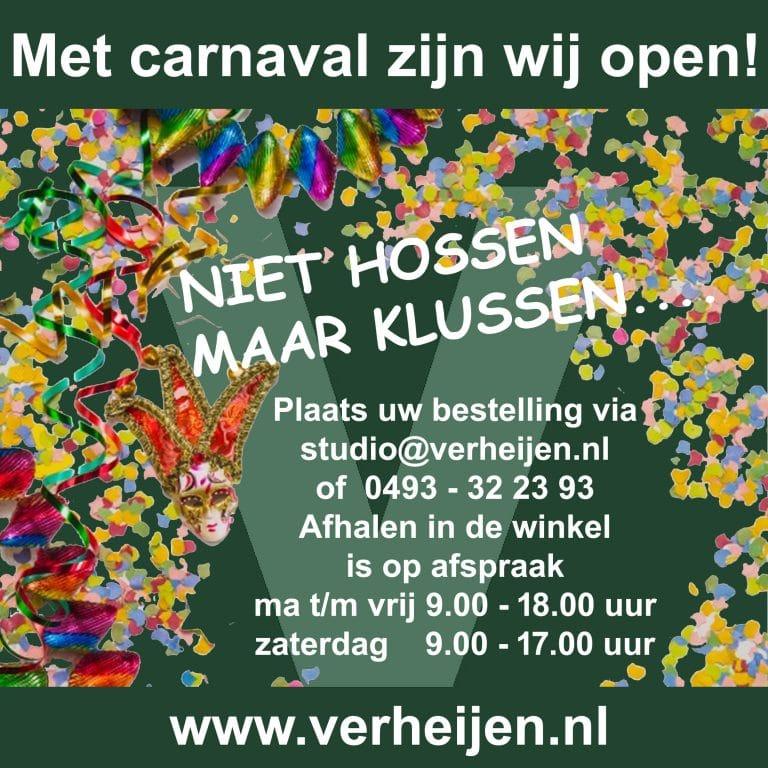Open tijdens carnaval